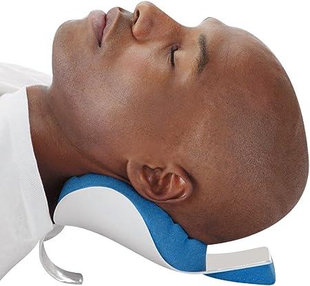 Lembeauty Almohada de liberación de tensión en la cabeza y el cuello, espuma de memoria, alivio del dolor cervical, relajante, masaje tracción almohada