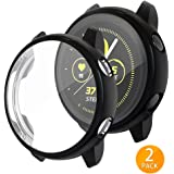 Tensea Compatible with Galaxy Watch Active Case 40mm, Soft TPU Bumper Full Around Screen Protector Cover for Samsung Galaxy Watch Active 40mm, 2 Packs (Black)