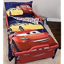 "Disney Cars 3 Lightning McQueen Toddler Bedding Set 3 Pieces - 52"" x 28"""
