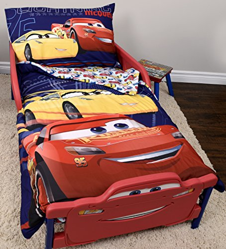 Disney Cars 3 Lightning McQueen Toddler Bedding Set 3 Pieces - 52