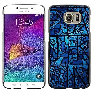 [Neutron-Star] Snap-on Series Teléfono Carcasa Funda Case Caso para Samsung Galaxy S6 [Noche de cristal fantasmal Modelo azul]