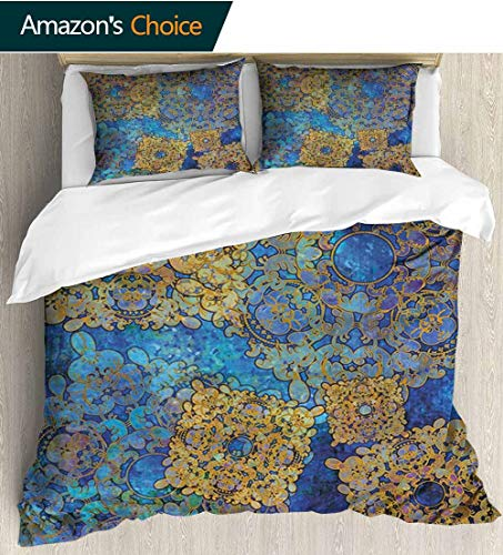 - Bedding Sets Duvet Cover Set,Traditional Persian Motif Oriental Moroccan Effects Exotic Style Boho Design Bedspreads Beach Theme Quilt Cover Children Comforter Cover 79