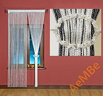 AeMBe - String Rideau Fil Porte De Rideau - 100cm X 200cm - Blanc ...