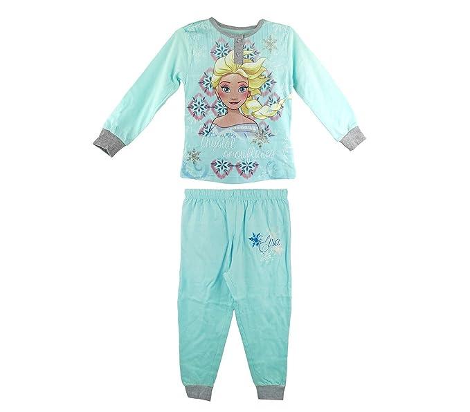 22-2281 Pijama de manga larga para niña Frozen de 2 a 7 años en