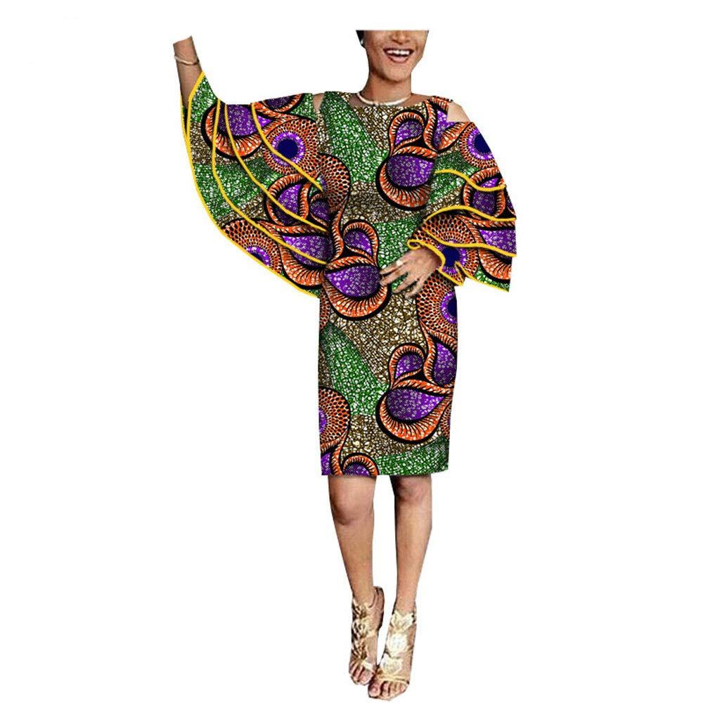 482 8 African Dresses for Women Ankara Dashiki Clothing Skirts Wax Print Formal