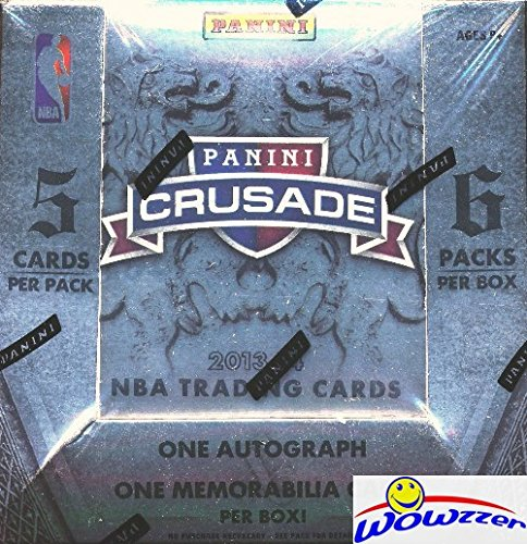 2013/14 Panini Basketball Crusade Factory Sealed HOBBY Box with TWO(2) AUTOGRAPHS/MEM! Look for Rookies Cards and Rookie Autographs of the GREAK FREAK Giannis Antetokounmpo ! Loaded! from Wowzzer