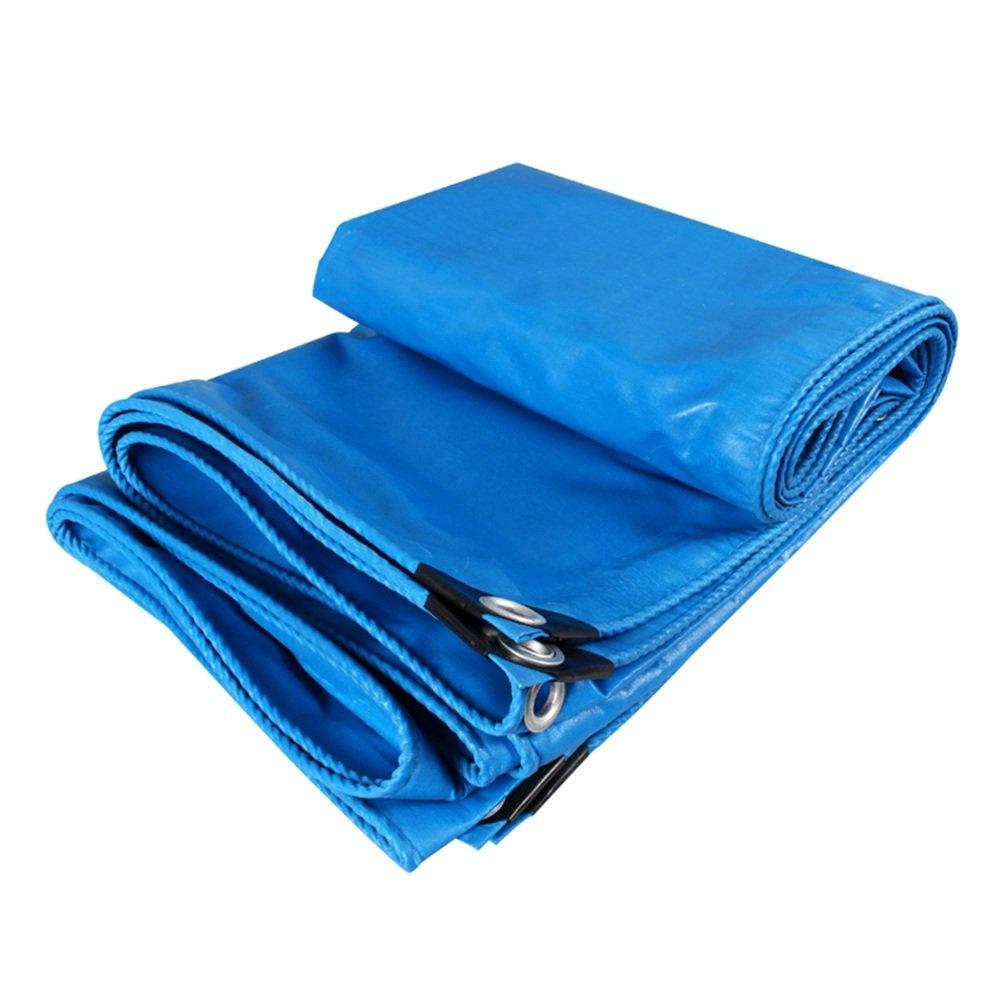 CHAOXIANG オーニング 厚い 両面 防水 日焼け止め 耐寒性 耐摩耗性 防風 防塵の 耐食性 軽量 ポリエステルフィラメント 青、 480g/m 2、 厚さ 0.4mm、 15サイズ (色 : 青, サイズ さいず : 3x6m) B07DBQDK1N 3x6m|青 青 3x6m