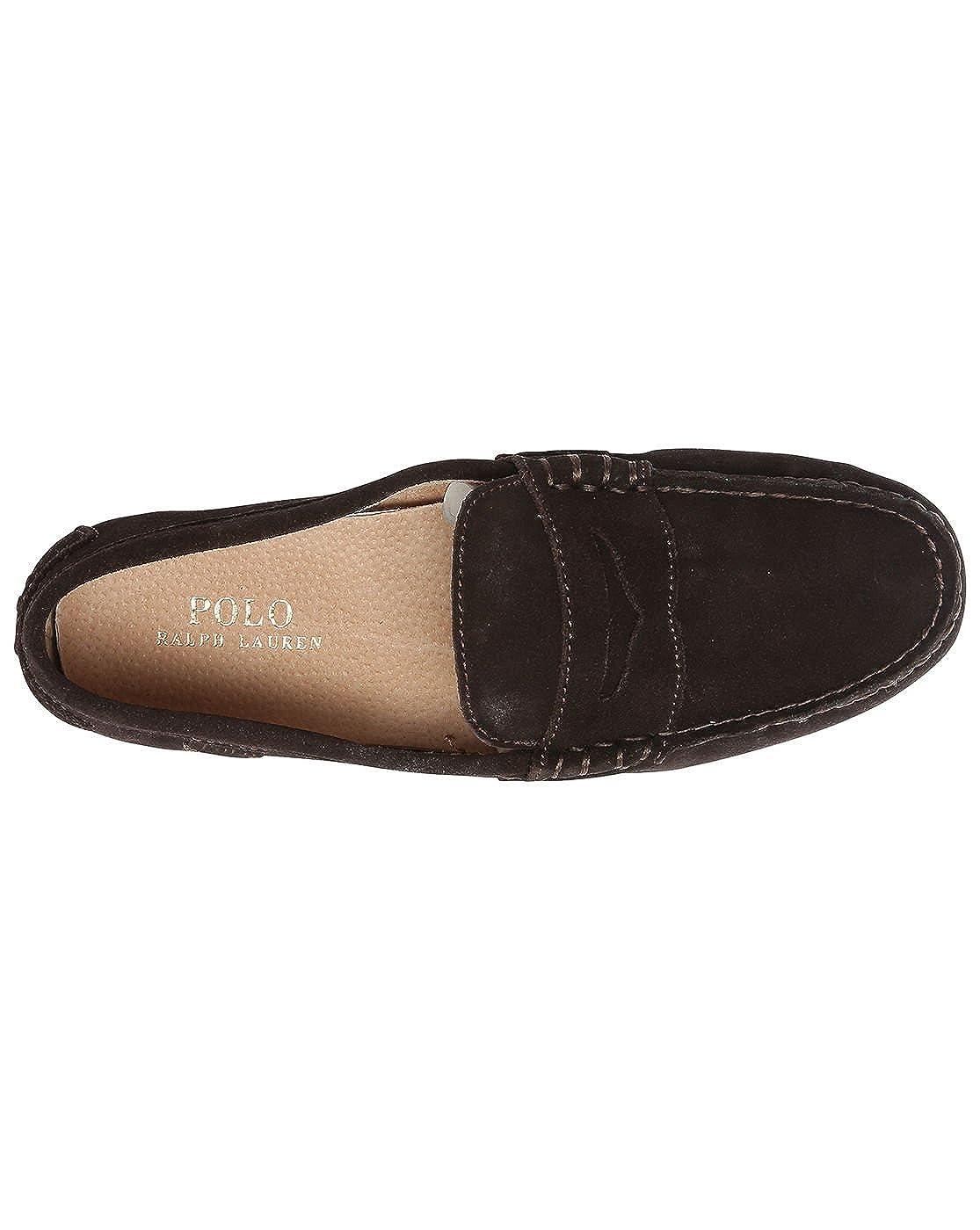 Polo Ralph Lauren - Mocasines de Ante Hombre, Marrón (marrón), 46 EU: Amazon.es: Zapatos y complementos