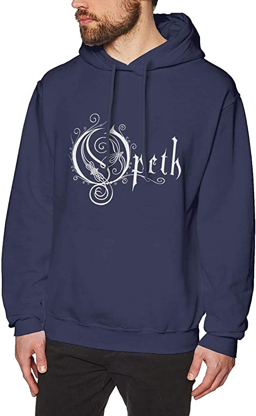 Imagen deDFGDG Men's Hooded Sweatshirt Opeth Flower Fashion Hoodie Pullover Black Navy