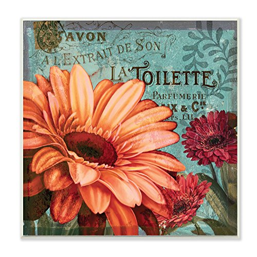 - Stupell Home Décor Colorful Daisies with Antique French Backdrop Wall Plaque Art, 12 x 0.5 x 12, Proudly Made in USA