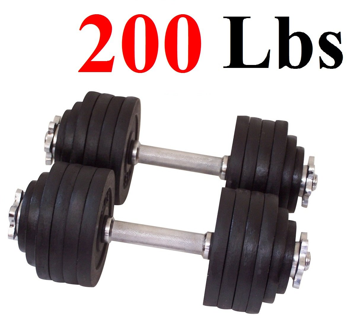 One Pair of Adjustable Dumbbells Kits - 200 Lbs (100lbs X 2pc) by Unipack