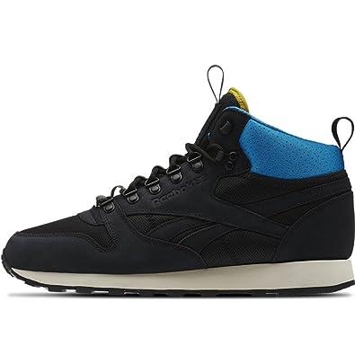 a433b283b2e Reebok - Classic Leather Mid BC - AQ9665 - Color  Black-Blue-White - Size   11.0  Amazon.co.uk  Shoes   Bags