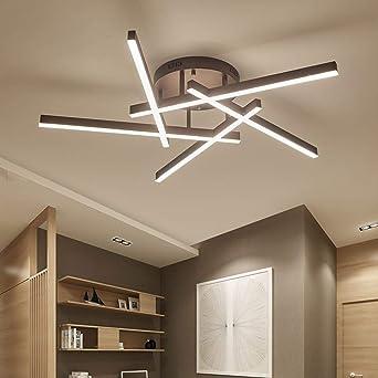 Joey Nuevo diseño Marrón Moderno plafones LED plafoniera ...