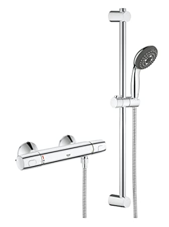 GROHE Precision Trend Thermostatic Bar Shower Pole Set Pack of 1 34237002 - - Amazon.com