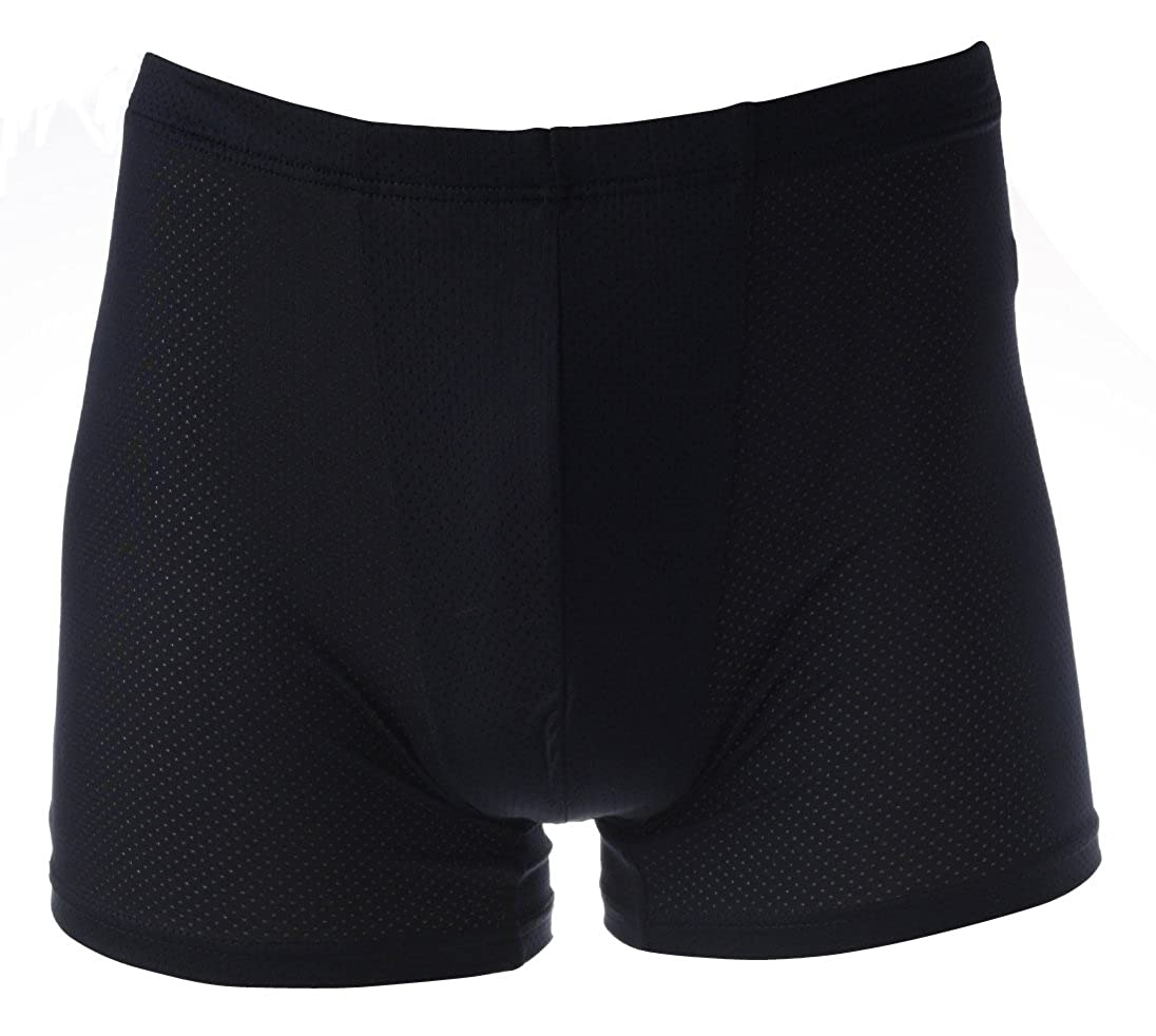 Somenell Mens Coolon Padded Butt Boxer Brief Underwear for Summer