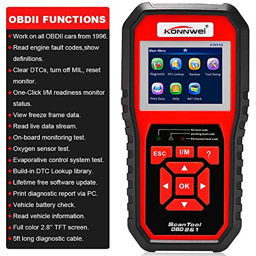 KONNWEI OBD2 Scanner, OBD Code Reader Code Scanner OBDII & EOBD Car Engine Fault CAN Diagnostic Scan Tool with I/M Readiness(Updated 2018) by KONNWEI (Image #1)