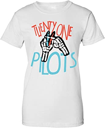 Wicked Design Twenty One Pilots Illustration Camiseta de Mujer: Amazon.es: Ropa y accesorios