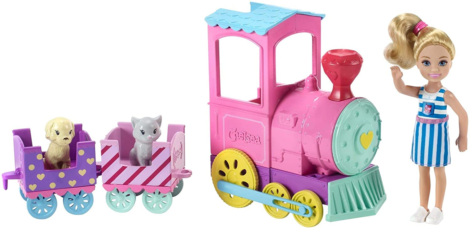 Barbie FRL86 Family Chelsea Choo Train with Doll 72bb70318