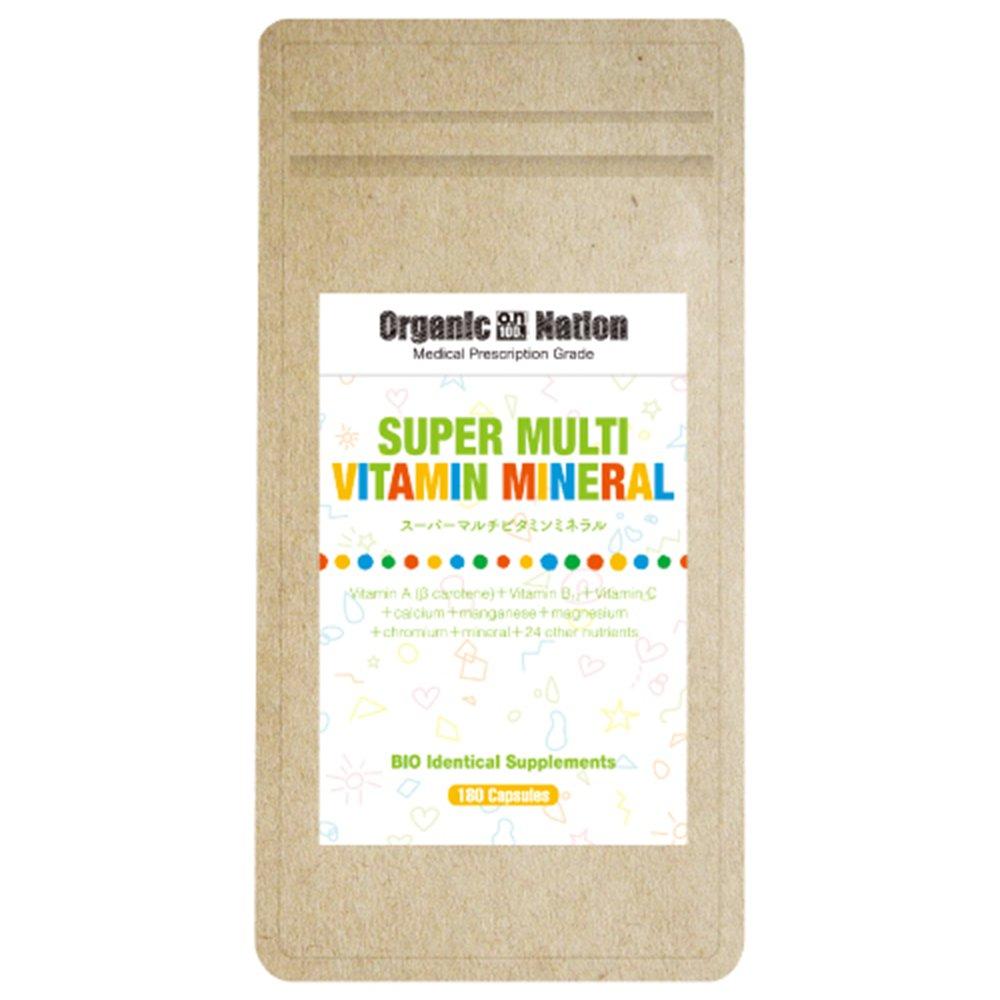 Organic Nation スーパーマルチビタミンミネラル 180カプセル B073VHVKM6