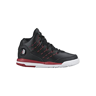 49480daebb78 Image Unavailable. Image not available for. Color  Nike Boy s Air Jordan  Flight Tradition Basketball Shoe Black White Gym Red 12C