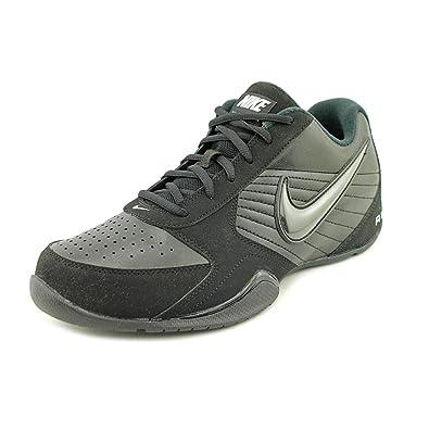 Nike Mens Air Baseline Low Basketball Shoes-Black/Black-White-8.5