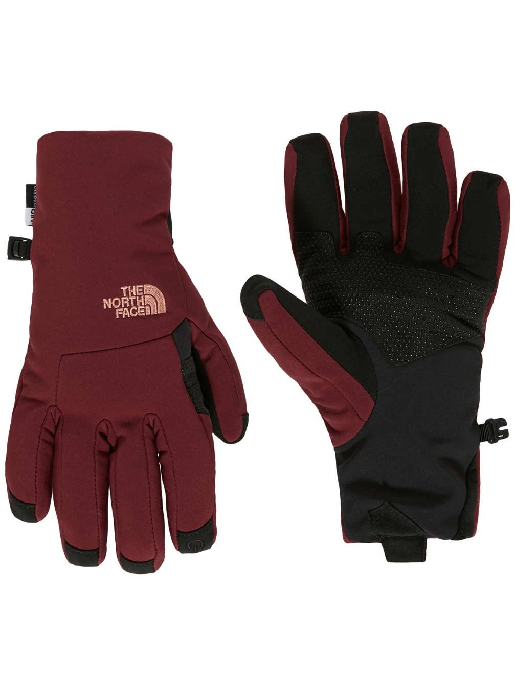 The North Face Womens Apex+ Etip Gloves (Sizes XS - L) - deep garnet red, m