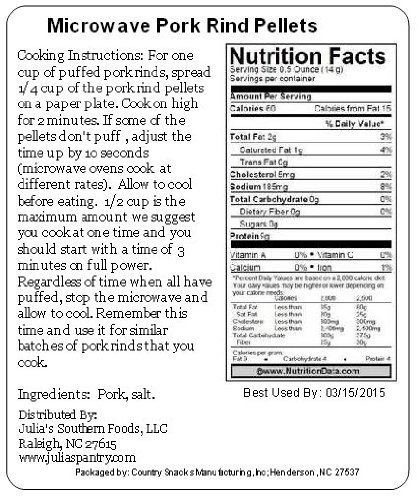 Microwave Pork Rinds 10 Pounds Gluten Free by Carolina Gold Nuggets (Image #2)