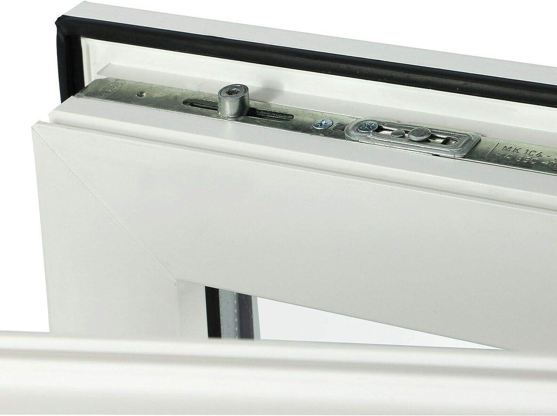 innen wei/ß//au/ßen wei/ß T/ür 2-fach Verglasung Balkont/ür Terassent/ür DIN Links BxH: 700 x 1900 mm JeCo 60mm