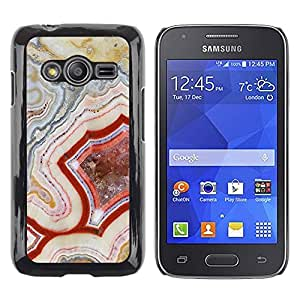 LECELL--Funda protectora / Cubierta / Piel For Samsung Galaxy Ace 4 G313 SM-G313F -- Pattern Geology Rock Red Nature --