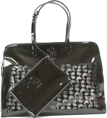 Chrome Bones Noir Handbag Dog Carrier, Black