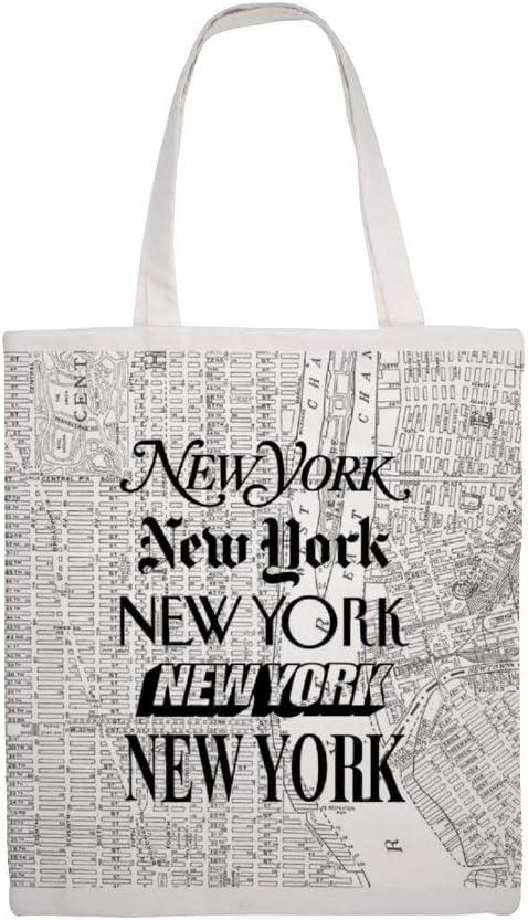 Bolsa de lona de algodón, diseño de mapa de la calle de Nueva York ...