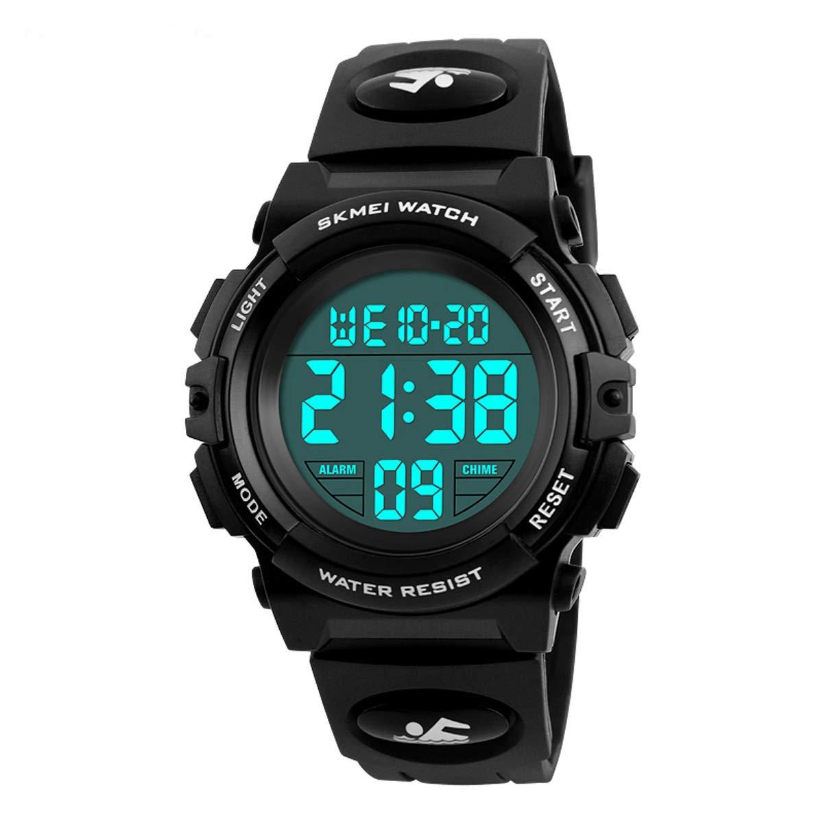 Relojes Digitales para niños Deportes al Aire Libre Reloj Impermeable con Alarma Temporizador cronómetro cronógrafo Relojes de Pulsera para niños Adolescentes
