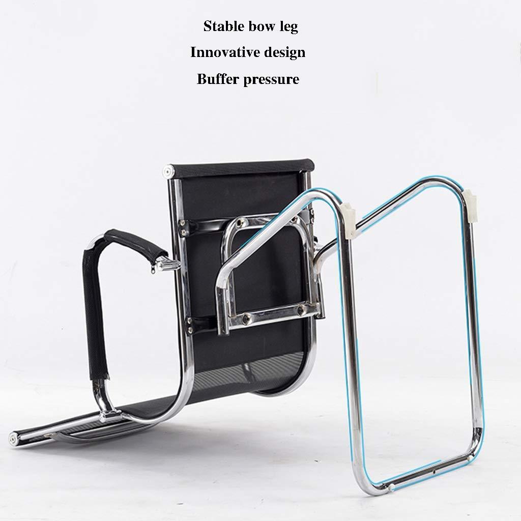 ZZHZY BBGS svängbar kontorsstol, hemskrivande stol, konferensstol med bågram, företagsmottagningsstol, svart (färg: A-2) A-1