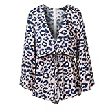 Rainlife Lace up Bow Women Rompers Winter Beach Jumpsuits Blue S