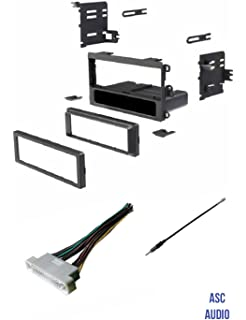 asc car stereo dash kit, wire harness, and antenna adapter to install a  single