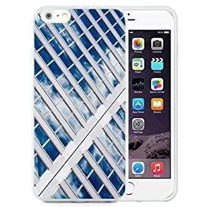 NEW Unique Custom Designed iPhone 6 Plus 5.5 Inch Phone Case With Sky Reflected On Glass Windows_White Phone Case wangjiang maoyi