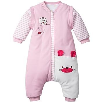 009d59cae0e03 Bébé Sac de Couchage d hiver Gigoteuse en Coton Pyjama à Manches Amovible  3.5 Tog