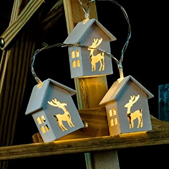 Weihnachtsbeleuchtung Fenster Batterie.Tekhome Rentier Lichterkette Batterie Aussen Weihnachtsbeleuchtung