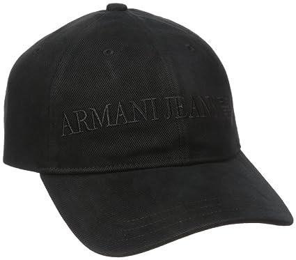4bb76b2ac7c3bf Armani Jeans Men's Cotton Logo Eagle Hat, Black, One Size: Amazon.co ...