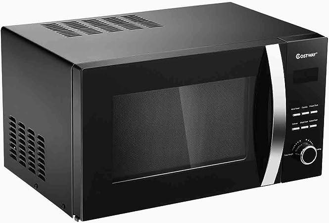 GOPLUS Horno de microondas 23L con temporizador y potencia regulable negro: Amazon.es: Hogar