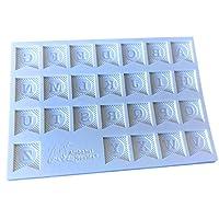 doitsa 1pcs molde de silicona para tartas Fondant Bunting Inglés alfabeto molde de Cookie Color aleatorio
