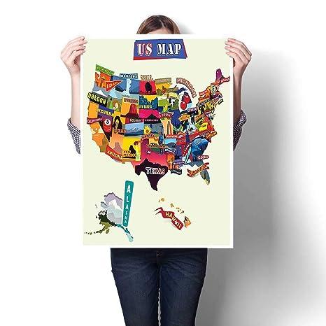 1 pieza de pintura artística para pared, mapa del mundo ...