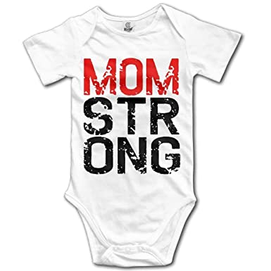 b8acd0efbc19 Amazon.com  Unisex Baby Mom Strong Short Sleeve Bodysuits One Pieces ...
