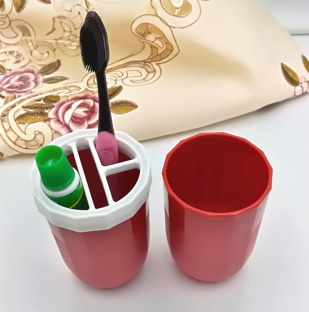 Bicchiere per spazzolini da Denti Blue AI-LAFU Porta spazzolino per Viaggio Custodia Tazze di Lavaggio Coppa Gargle Set per Escursioni e Campeggio casa Bagno.