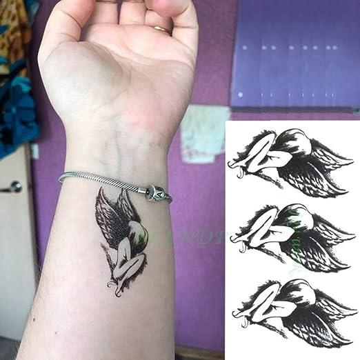 ljmljm 6pcs Impermeable Etiqueta engomada del Tatuaje en el Cuerpo ...