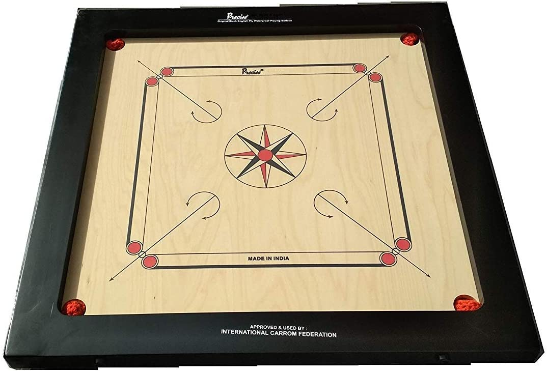 8Mm Full Size Surco Classic Carrom Board With Coins And Striker