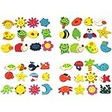 niceEshop(TM) 2 x Lovely Baby Toy Wooden Cartoon Refrigerator Magnets For Children (Random Color,Set of 12)