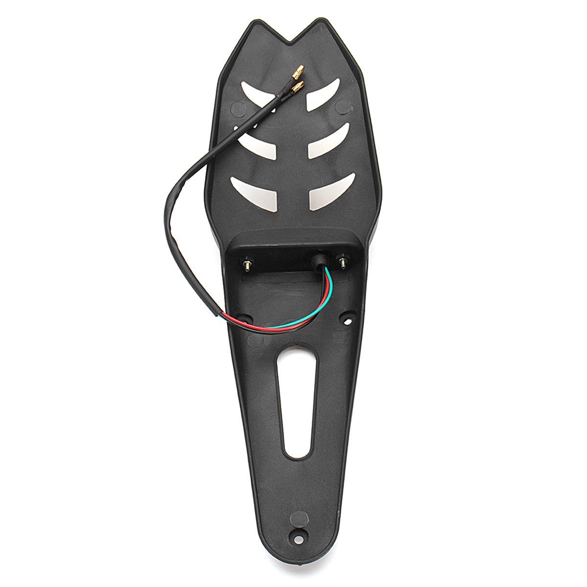 QUORA 12V Motorcycle Enduro LED Rear-Fender Brake Tail Running Light Turn Signal Universal
