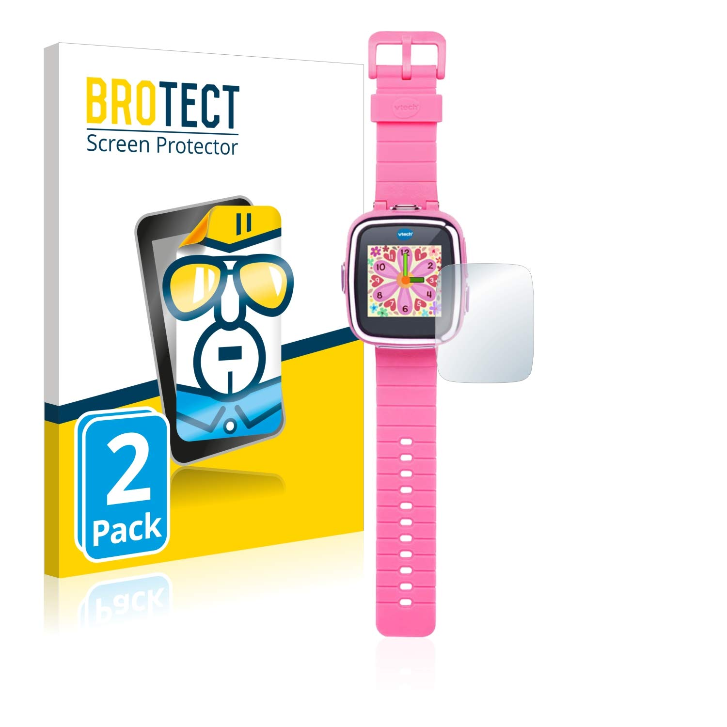 brotect Protector Pantalla Compatible con Vtech Kidizoom Smart Watch DX Protector Transparente (2 Unidades) Anti-Huellas