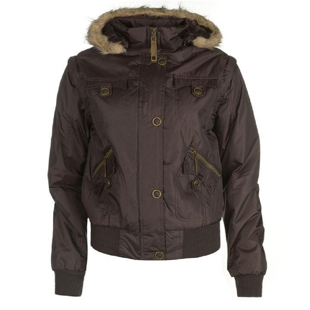 Cooper Lee Gilet x Chaqueta Chaleco Y And Marrón Small Jacket Mujer pRZRqH